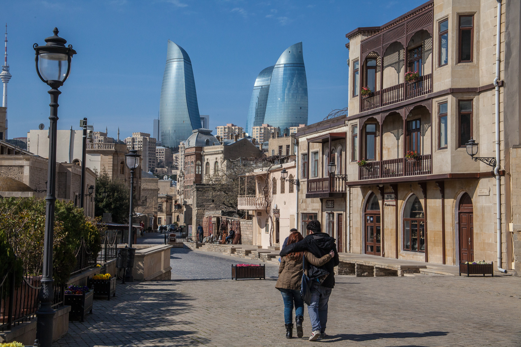 1016Old City, Baku Azerbaijan, the Flame Towers, Architect HOK
