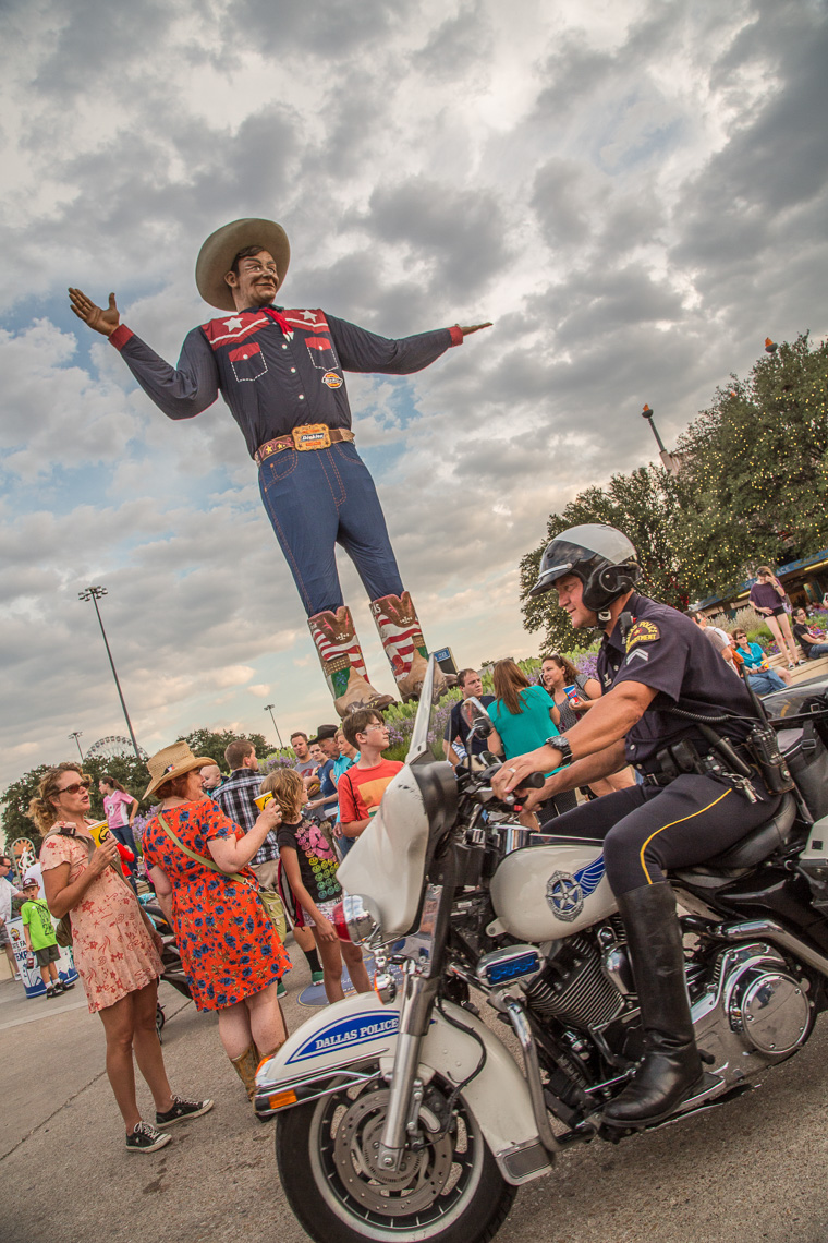 1177State Fair of Texas, Big Tex, Motorcycle cop