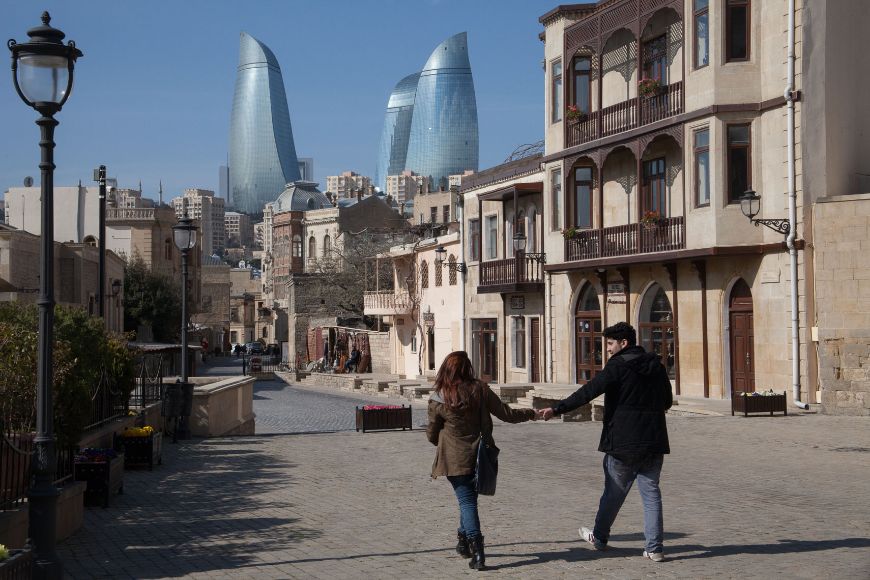 1202Baku Azerbaijan, the Flame Towers, Old City